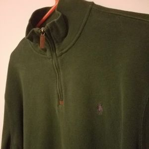 Vintage Polo green zip up.